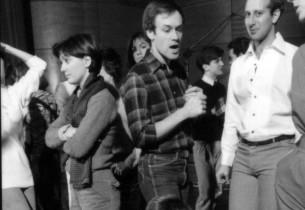 Denise DiRenzo, Joel Blum, Bill Nabel, and (crouching) Mary Cadorette