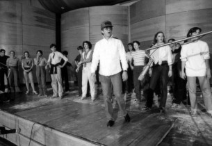 Danny Carroll with dancers