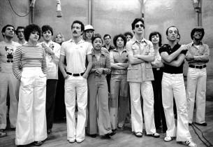 (left to right):  Don Percassi, Ron Kuhlman, Donna Drake (horizontal striped