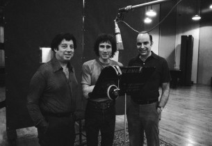 Composer Cy Coleman, Jim Dale, and record producer Mike Berniker (photo:Don Huns