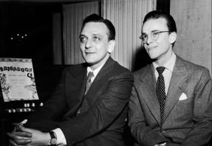 Frederick Loewe and Alan Jay Lerner with Marion Bell (Photo: Ben Kemper/Zinn Art