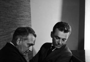 Composer Frederick Loewe and lyricist Alan Jay Lerner